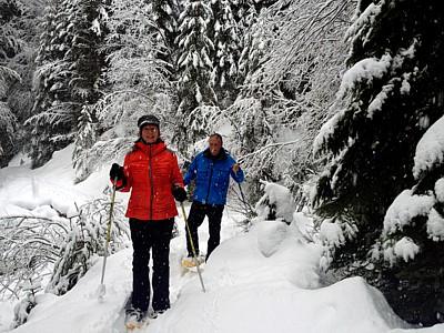 Hotel Esprit Montagne sneeuwschoen wandelen