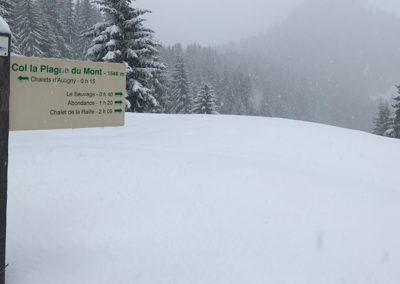 Sneeuwschoen wandeling naar Ubine 5