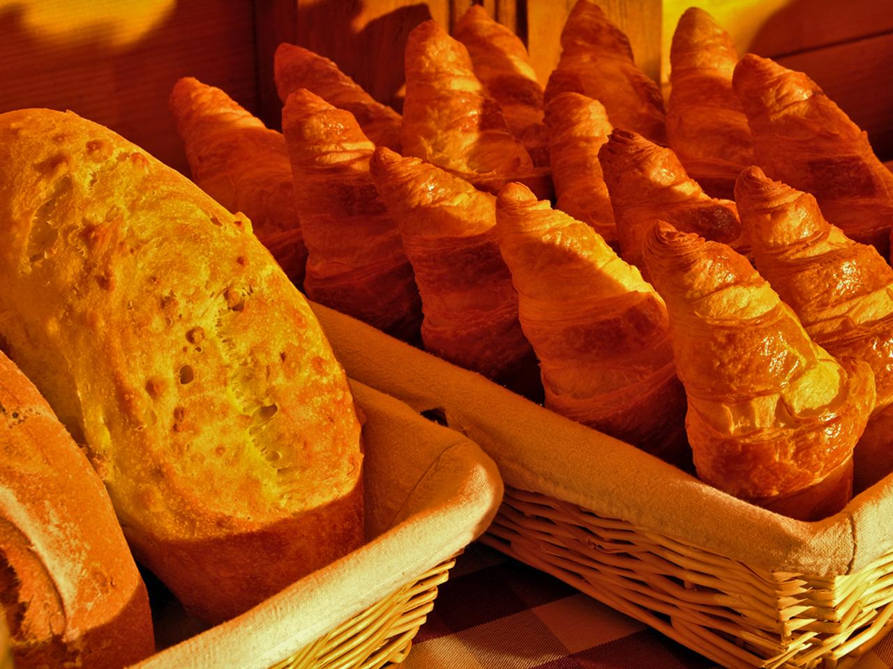 Ontbijt - Croissants en brood