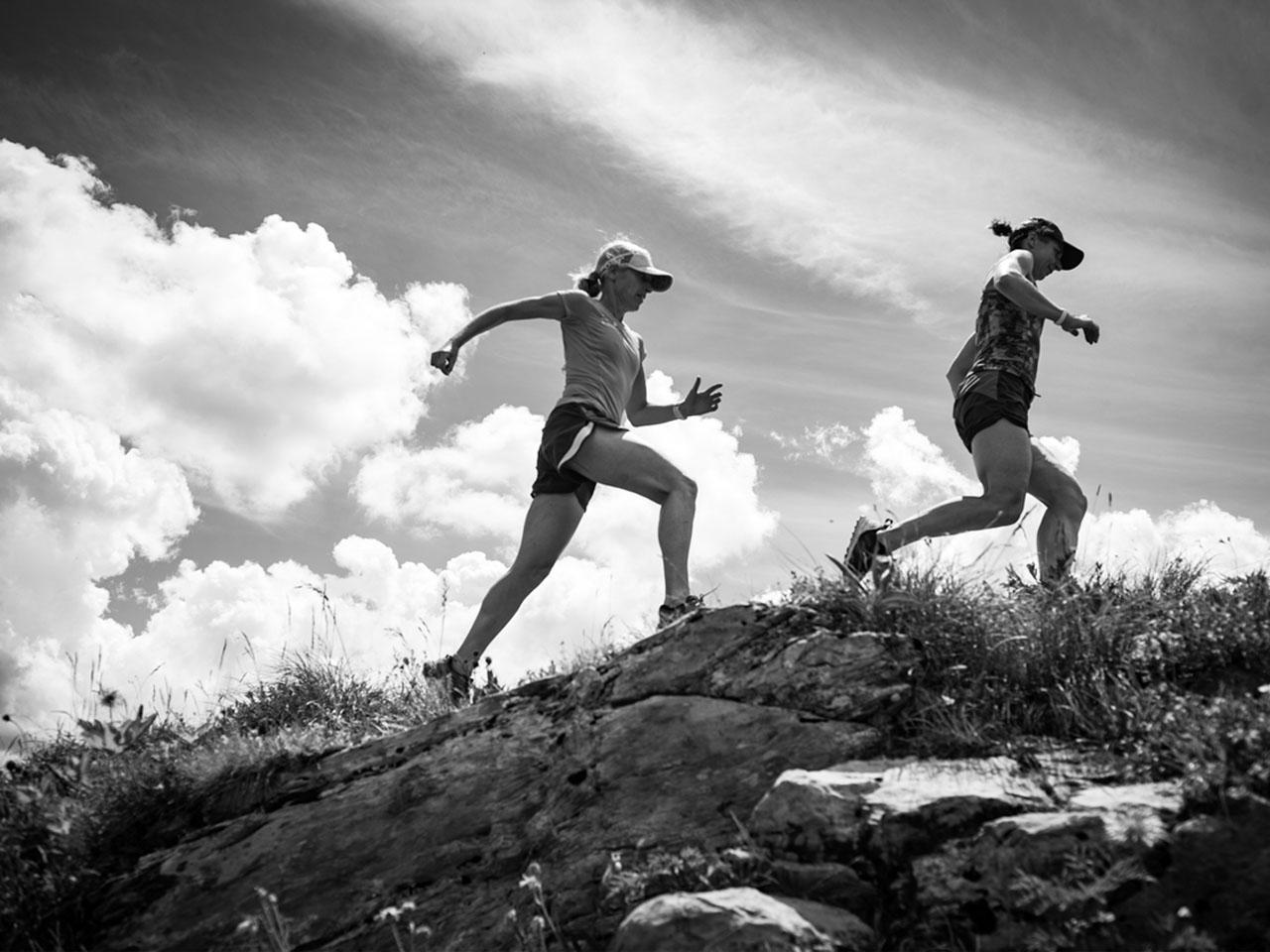 Trailrunning - Linda en Jorien