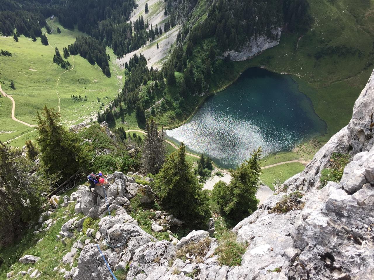 Zomer - klimmen boven Lac d'Arvouin